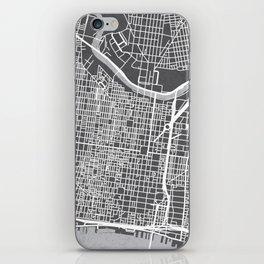 Center City Philadelphia Map iPhone Skin