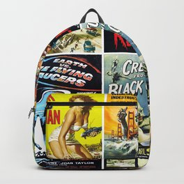 50s Sci-Fi Movie Poster Collage #1 Backpack
