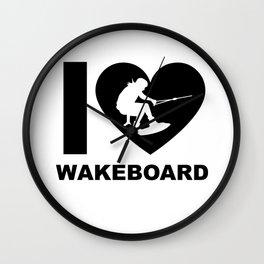Wakeboarding waterskiing Wall Clock