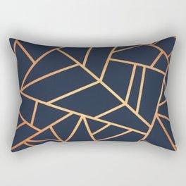 navy and gold abstract Rectangular Pillow