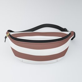 Inspired by Dunn Edwards Spice of Life DET439 Hand Drawn Fat Horizontal Lines on White Fanny Pack