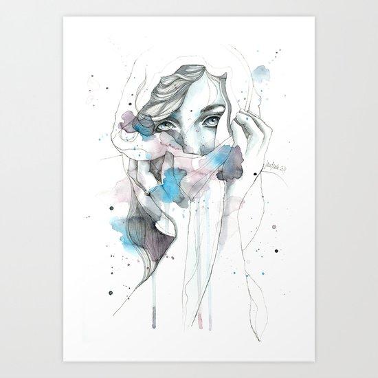 Scarf Art Print