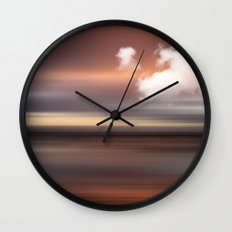 SEASCAPE - abstract landscape in glowing copper tones Wall Clock