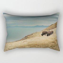 Bison overlook Rectangular Pillow