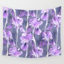 Simple Iris Pattern in Pastel Purple by micklyn