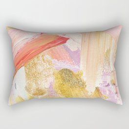 Shiloh - Abstract Contemporary Brushstrokes Rectangular Pillow