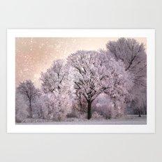 Winter Oak Fantasy Art Print