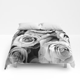 Black and White Roses Comforters