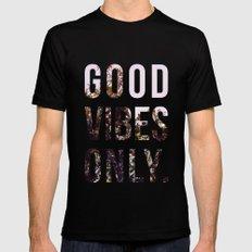 Good Vibes Only #society6 #decor #buyart MEDIUM Black Mens Fitted Tee