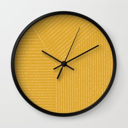 Lines / Yellow Wall Clock