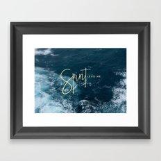 Spirit Lead Me Framed Art Print