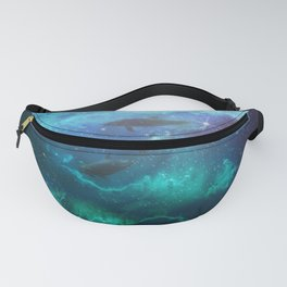 Mystic Dolphins Underwater Scenery Fanny Pack