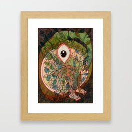 Inside of me there is a huge universe Framed Art Print