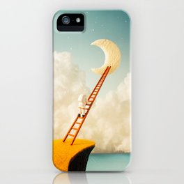 A Ladder to the Moon iPhone Case