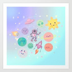 Cute Space Art Print