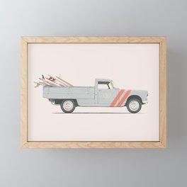 Surfboard Pick Up Van Framed Mini Art Print