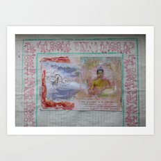 Buddha Collage - JUSTART (c) Art Print