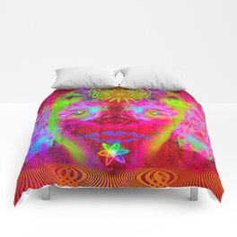 Psychedelic Sugar Skull (Halloween) Comforters