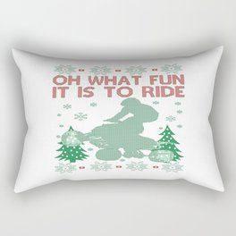 Quad Biking Christmas Rectangular Pillow
