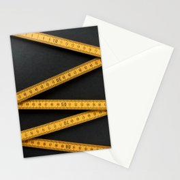 Yellow Folding Ruler Stationery Cards
