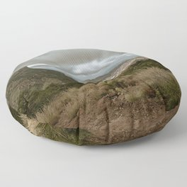 Big Bend Cloudy Mountaintop View - Lost Mine Trail - Landscape Photography Floor Pillow