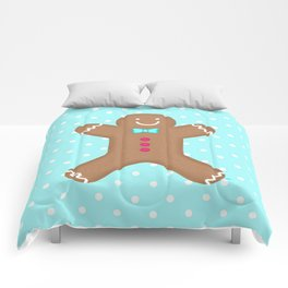 Yummy Gingerbread Man Cookie Comforters