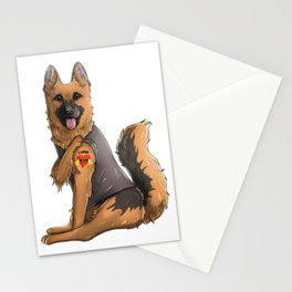 I Love Mom Tattoo German Shepherd Mom Mother's Day Gift Stationery Cards