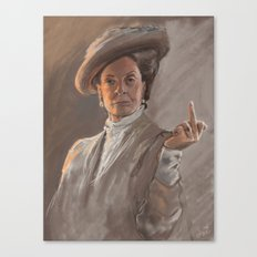 Maggie Smith Gives the Finger Canvas Print