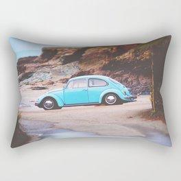 Vintage Blue Beetle Rectangular Pillow