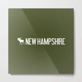 New Hampshire Moose Metal Print