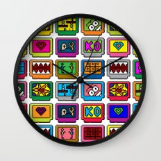 8-bit Game Cartridges Wall Clock
