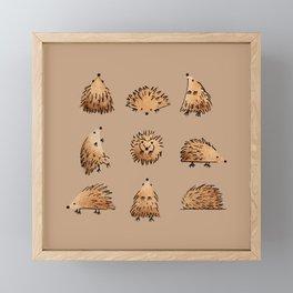 An Array of Hedgehogs Framed Mini Art Print