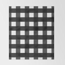 Contemporary Black & White Gingham Pattern Throw Blanket