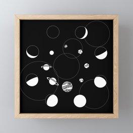 Celestial Circles Framed Mini Art Print