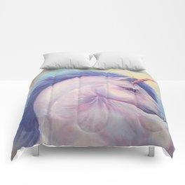 Purple Unicorn - Art by Lana Chromium Comforters