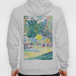 Watercolor Landscape by Henri-Edmond Cross 1904 Neo-Impressionism Pointillism Watercolor Hoody