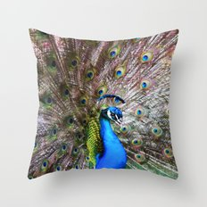 Dunedin Cemetery Peacock Throw Pillow