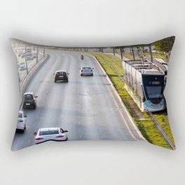 Cars and tram at seaside in Izmir (Turkey) Rectangular Pillow