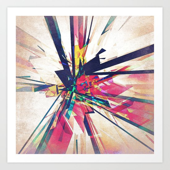 Abstract Geometry Art Print