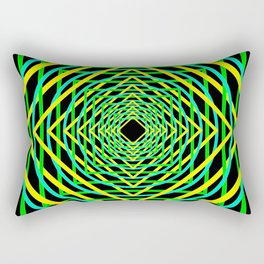 Diamonds in the Rounds Blacklight Neons Yellow Greens Rectangular Pillow