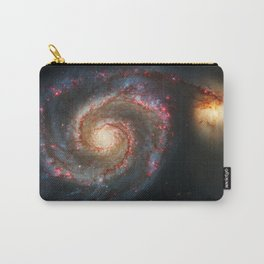 Whirlpool Galaxy and Companion Galaxy Carry-All Pouch