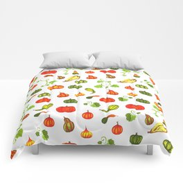 Autumn Pumpkin and Gourd Pattern Comforters