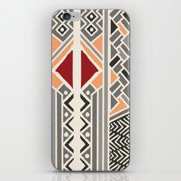 Tribal ethnic geometric pattern 034 iPhone Skin