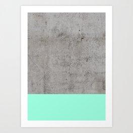 Sea on Concrete Art Print