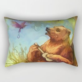 Bear and ukulele Rectangular Pillow