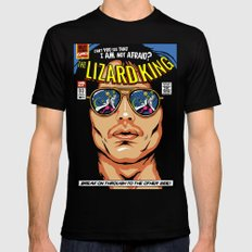 The Lizard King Black Mens Fitted Tee 2X-LARGE