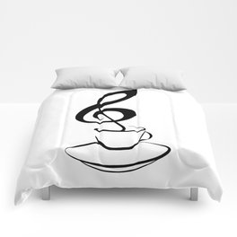 Music and coffee Comforters