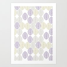 Leaf patttern Art Print
