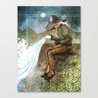 "dragon age inquisition Canvas Prints featuring Dragon Age Inquisition - Cole - Charity by Barbara ""Yuhime"" Wyrowińska"