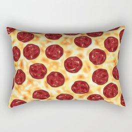 Pepperoni Pizza Pattern Rectangular Pillow